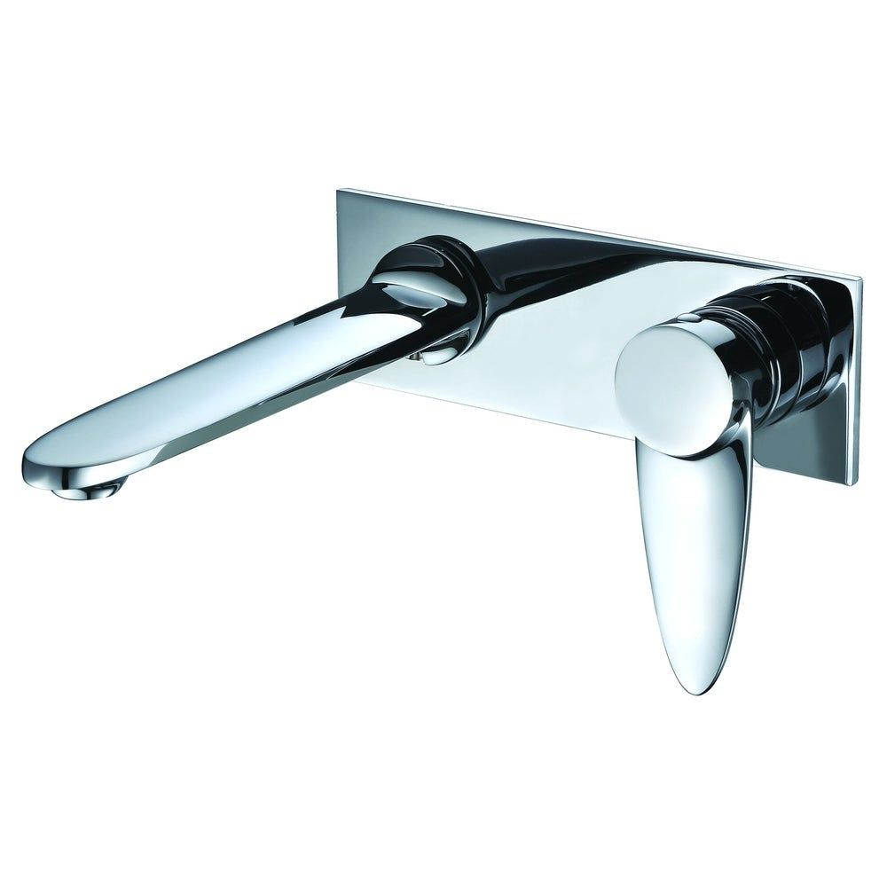 Photo of ALFI Brand Polished Chrome Wall Mounted Modern Bathroom Faucet, Gray