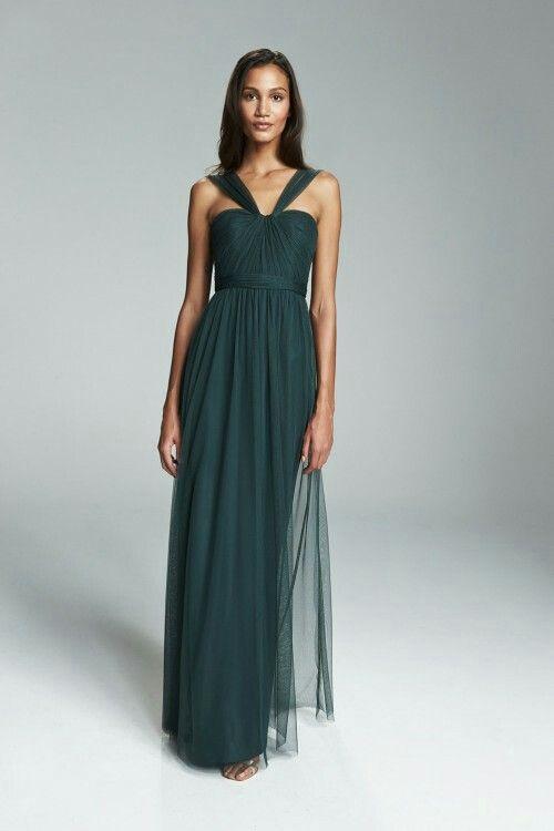 f48ed1b85071 Amsale tulle bridesmaid- hunter green - Aisha Lace Jacket, Jacket Dress,  Ball Gowns