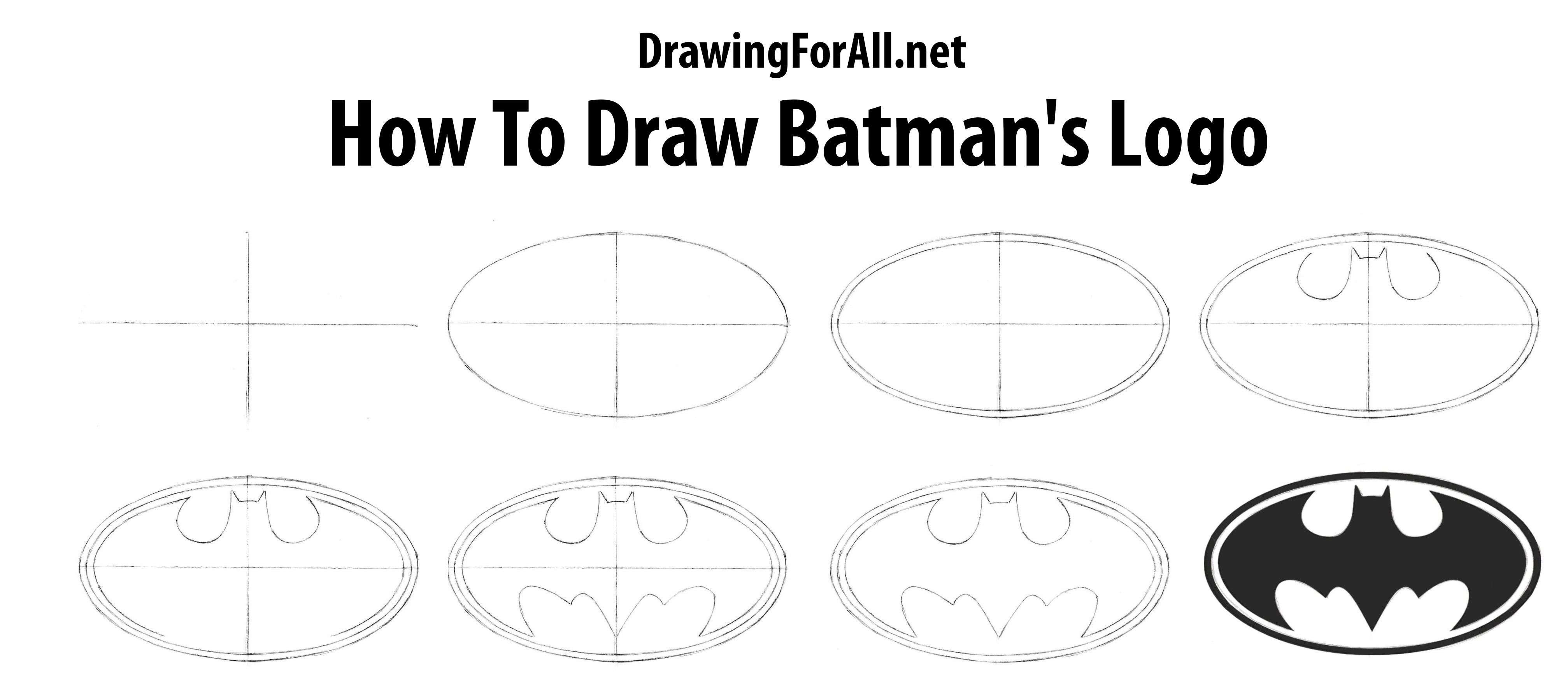 How To Draw Batman S Logo How To Draw Batman Drawing Drawings