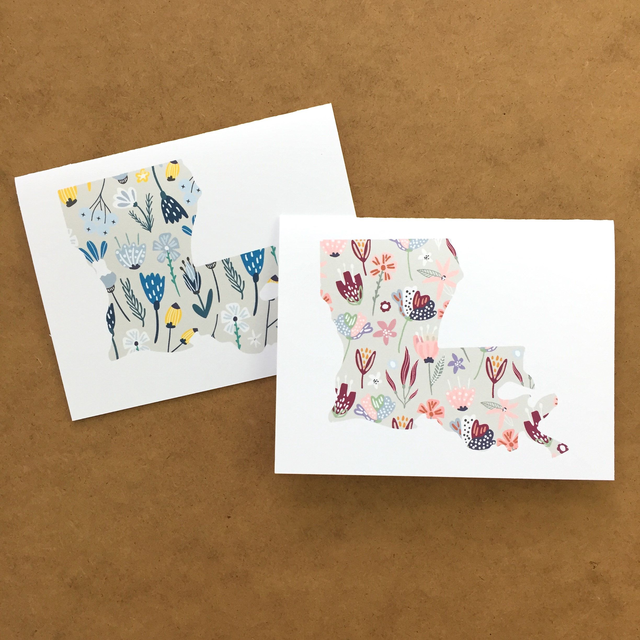 Louisiana Stationary With Floral Print Louisiana Gift New Orleans