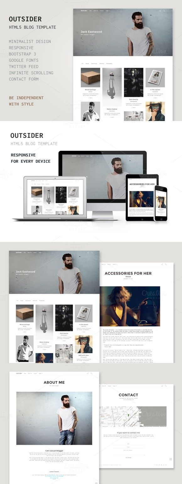 This masonry Tumblr theme features a responsive layout, infinite ...