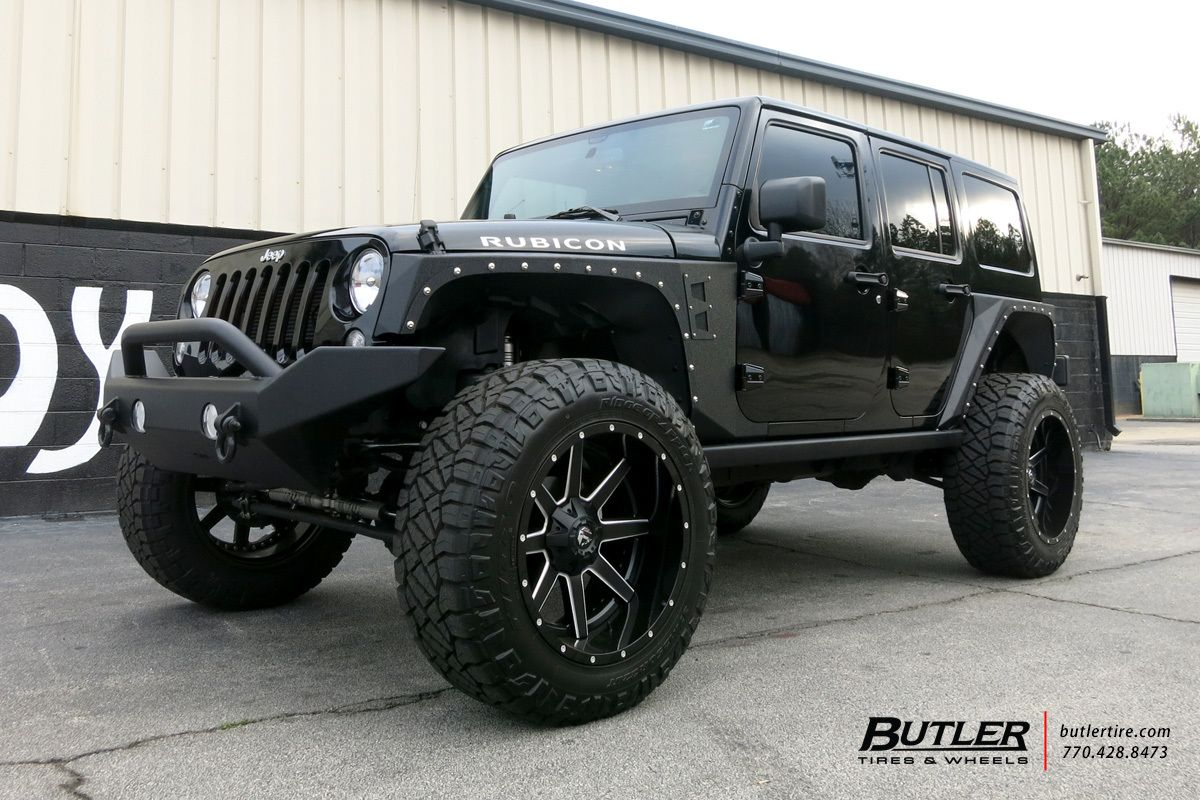 Jeep Wrangler With 22in Fuel Maverick Wheels Jeep Wrangler