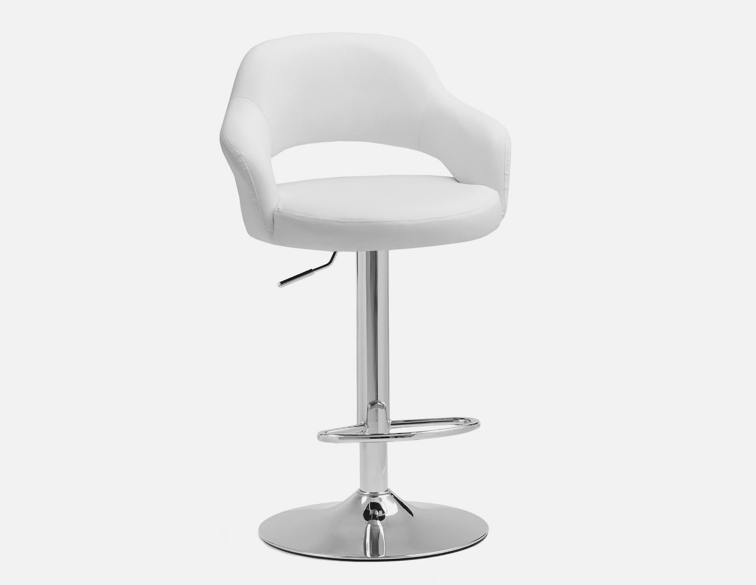 Cool Riko White Adjustable Stool 87Cm To 109Cm In 2019 Caraccident5 Cool Chair Designs And Ideas Caraccident5Info