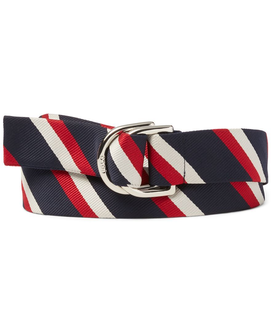 Polo Ralph Lauren Men's Team Usa Ceremony Striped Belt (With