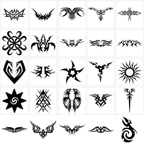 motifs de tatouage tribal pour femme tatouage pinterest tatouages tribaux pour femme et. Black Bedroom Furniture Sets. Home Design Ideas