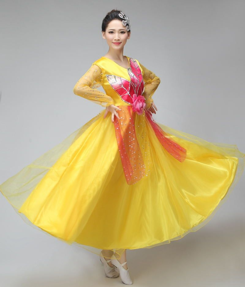 a9263a852 Click to Buy    Dance Costume National Stage Chorus Dress for Female ...
