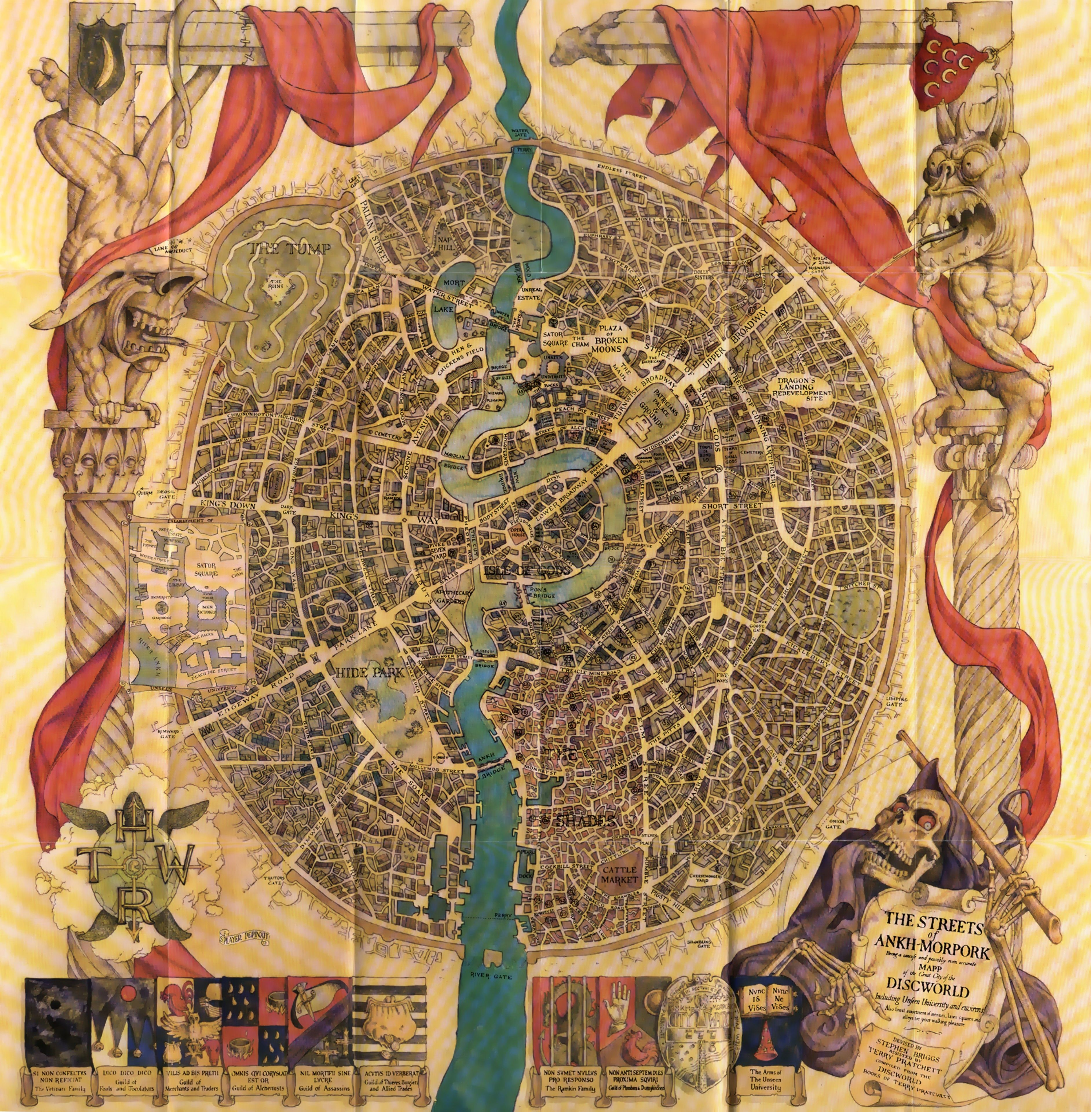 Map Of Ankh Morpork Discworld Map Terry Pratchett Discworld