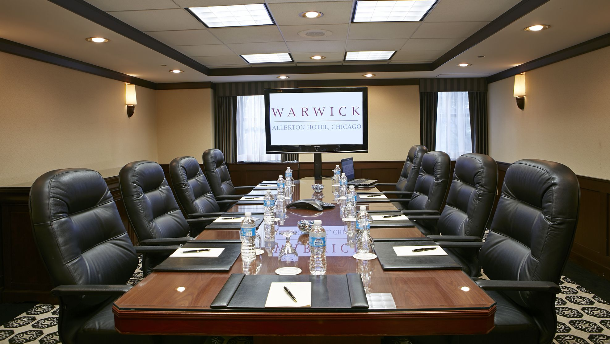 State-of-the-art board room for more intimate meetings ...