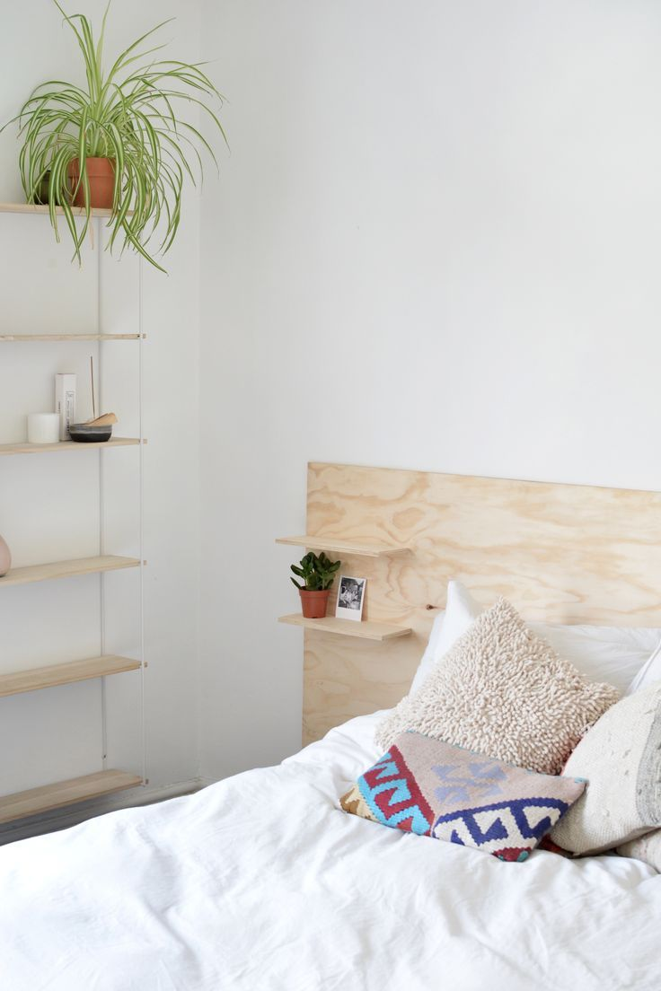 Best Easy To Make Modern Plywood Headboard With Built In 640 x 480