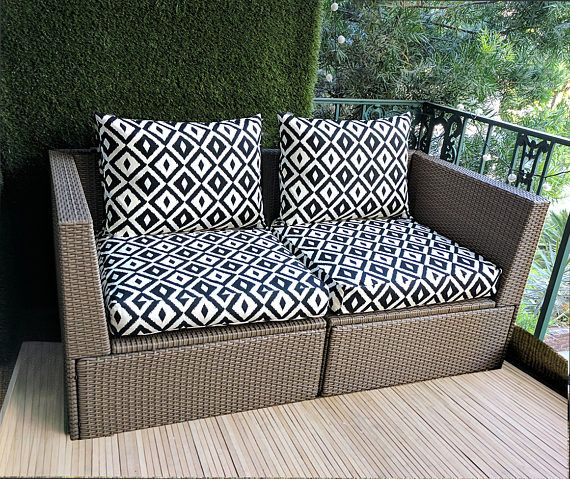 Ikea Hallo Seat Covers Gray Sticks Pattern Cushion Custom Decor