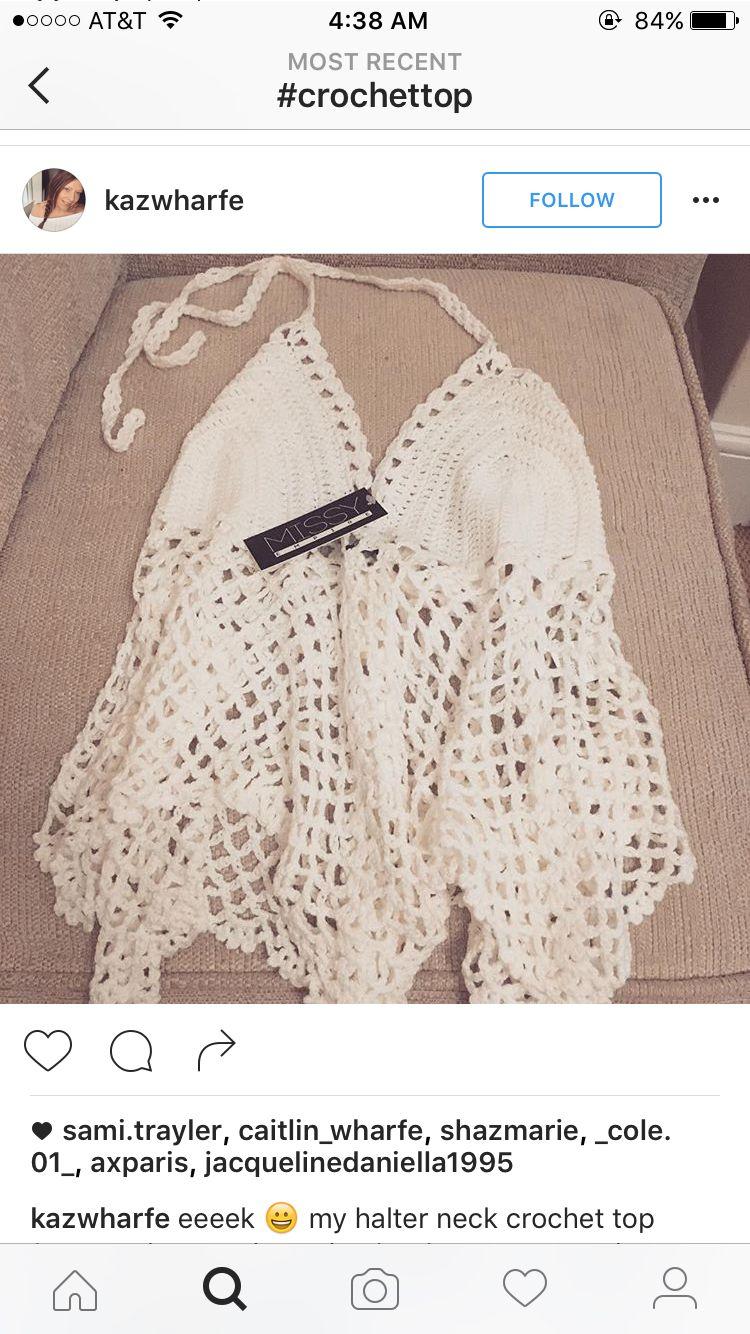 Pin de Maria en Crochet | Pinterest | Bikinis, Patrones y Blusas