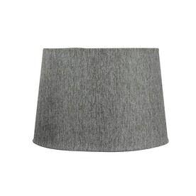 Lowes Portfolio 10 In X 15 Grey Tweed Drum Lamp Shade