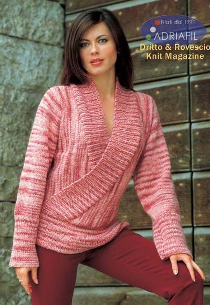 Sara Pull In Adriafil Free Knitting Pattern For Womens Pullover