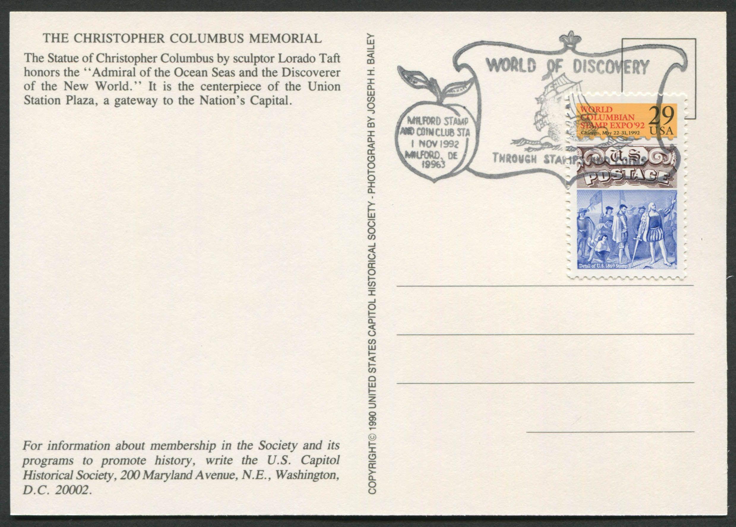 United States Scott 2616 24 Jan 1992 World Columbian Stamp Expo 92