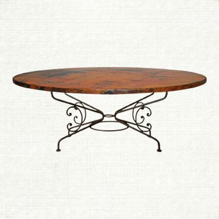 View the Arabesque Large Oval Copper Table at Arhaus When the