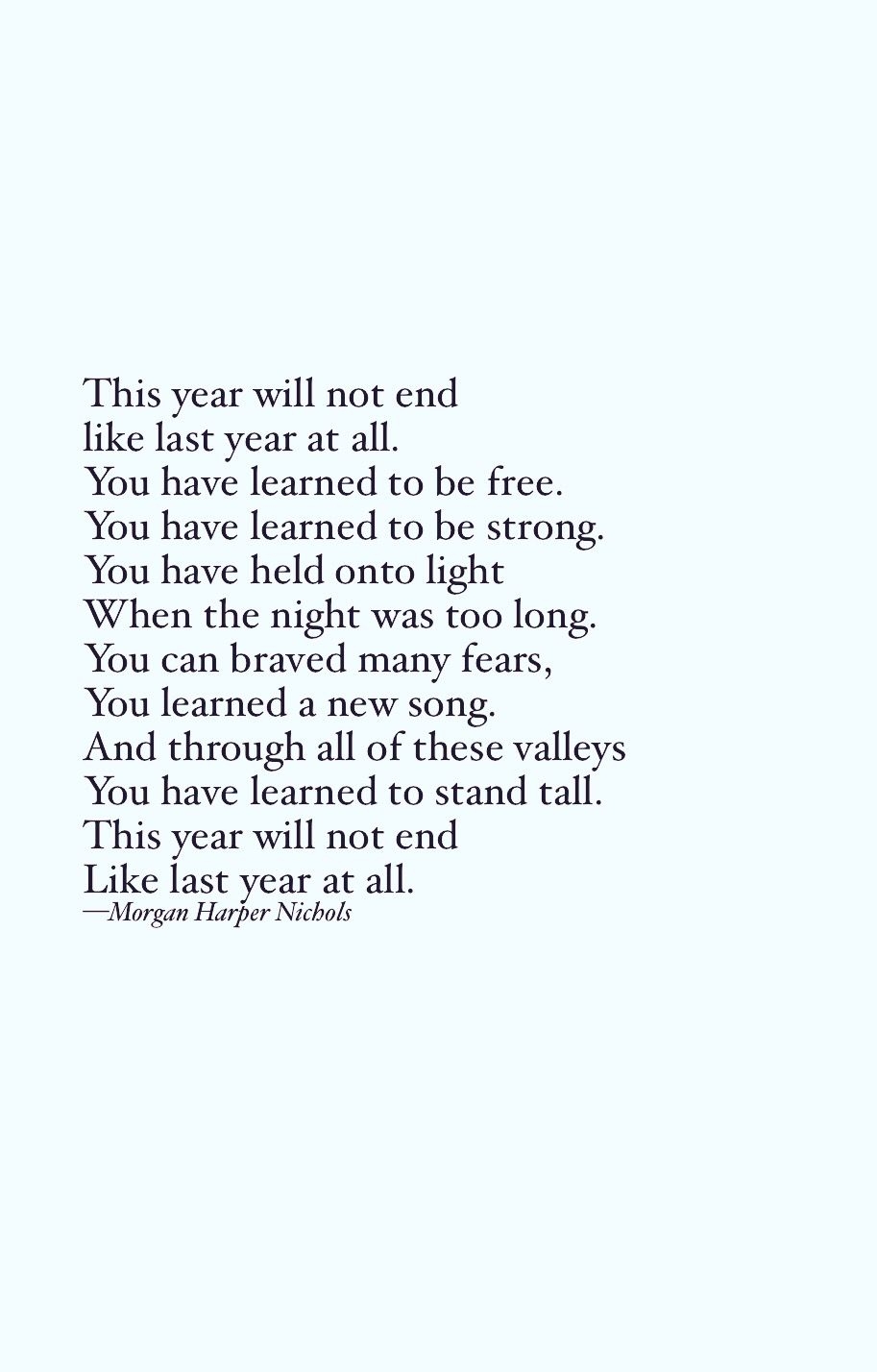 A Quote For A Year Ending, A New Year ////