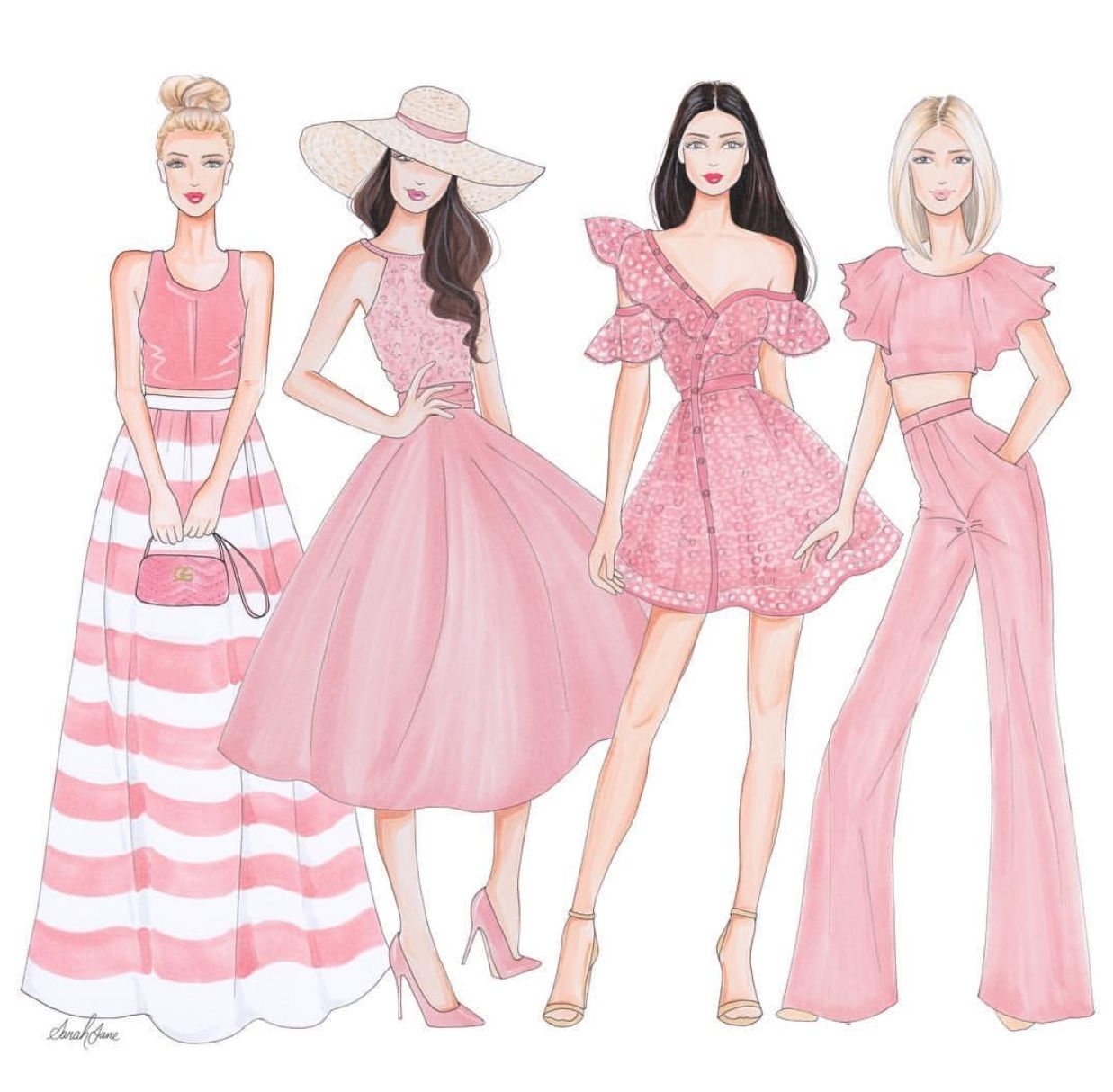 Jane #FashionIllustrations |Be Inspirational ❥|Mz. Manerz: Being well dressed ...