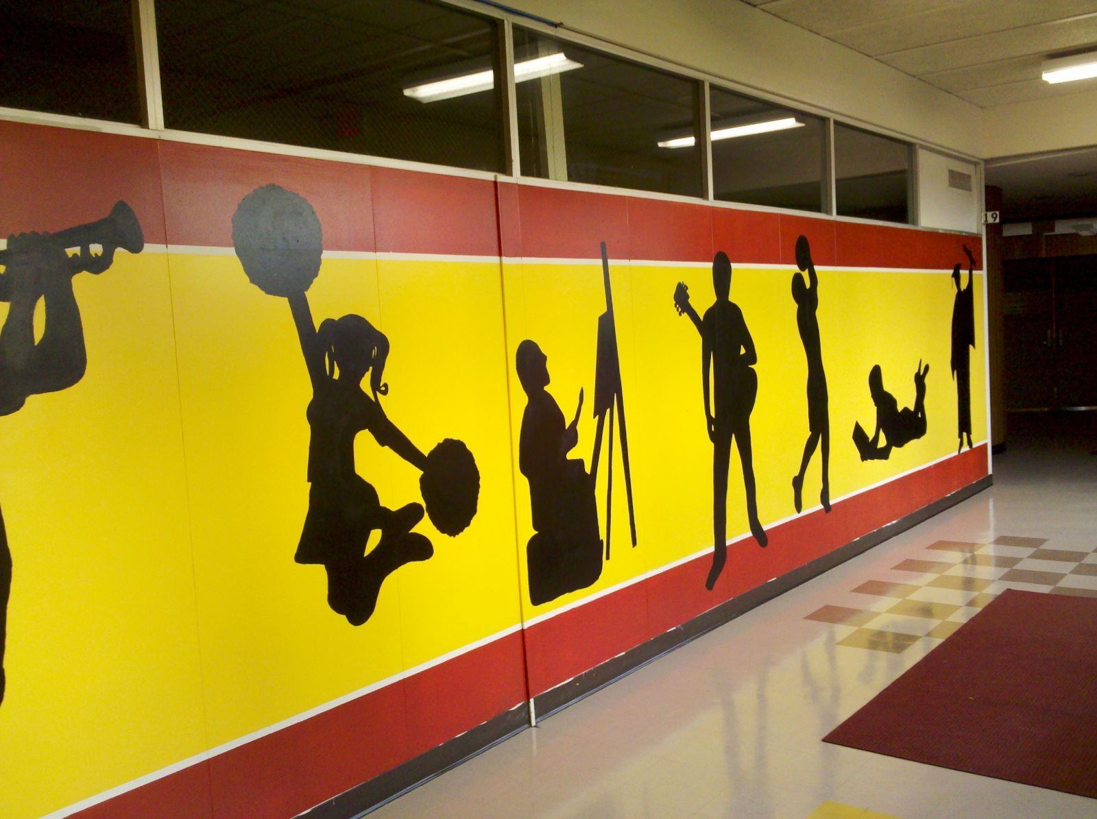 school hallway murals - Google Search | high school murals ...