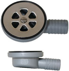 "Boat Marine Sink Drain W// Stopper Fits 2-1//16/"" Drain Hole W// 1/"" Hose Barb Outlet"