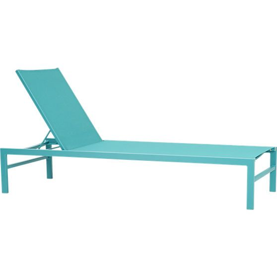MASTER BALCONY idle turquoise outdoor chaise lounge CB2