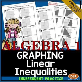 Graphing Linear Inequalities Practice Standard Form Worksheets