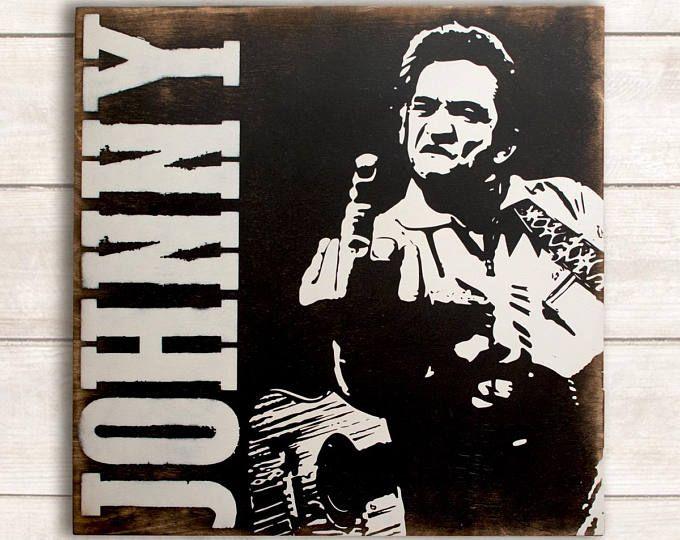Johnny Cash Sign; Johnny Cash Art; Johnny Cash Wall Art; Johnny Cash ...