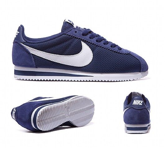 brand new 68f9e 7b0df Nike Womens Classic Cortez Nylon Trainer   Loyal Blue   White   Footasylum