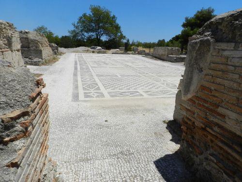 mosaicos en Isthmia.