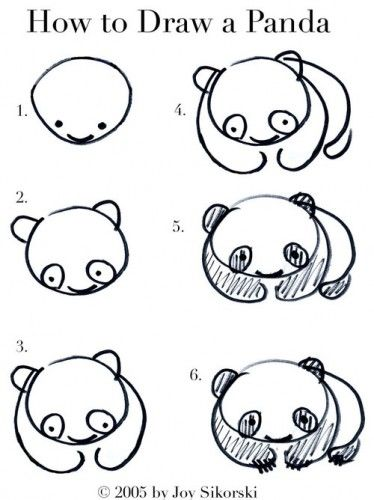 How to draw a panda. @Amy Leonard