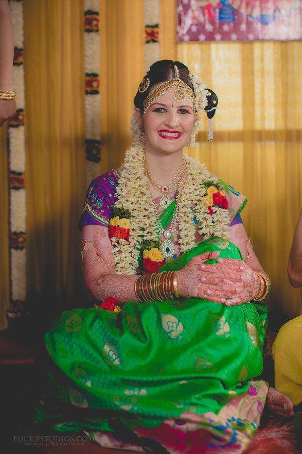 Indo Brazilian TamBrahm Wedding in Chennai Aravind and Paola