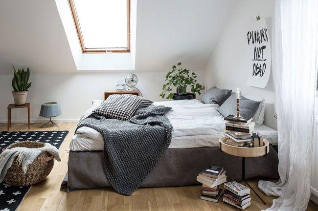 Idées Pour Une Décoration Scandinave Décoration Scandinave Linge - Canapé convertible scandinave pour noël deco chambre adulte blanc
