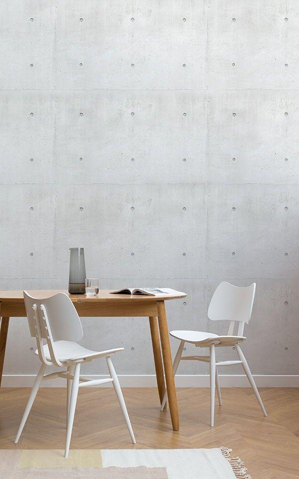 Papel pintado Bloque de hormigón moderno Pinterest Tapiz blanco - tapices modernos