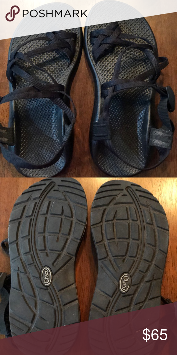 37a9e14593e8 Womens Black Chacos Size 9W Like new! Only worn once. Chaco Shoes Sandals