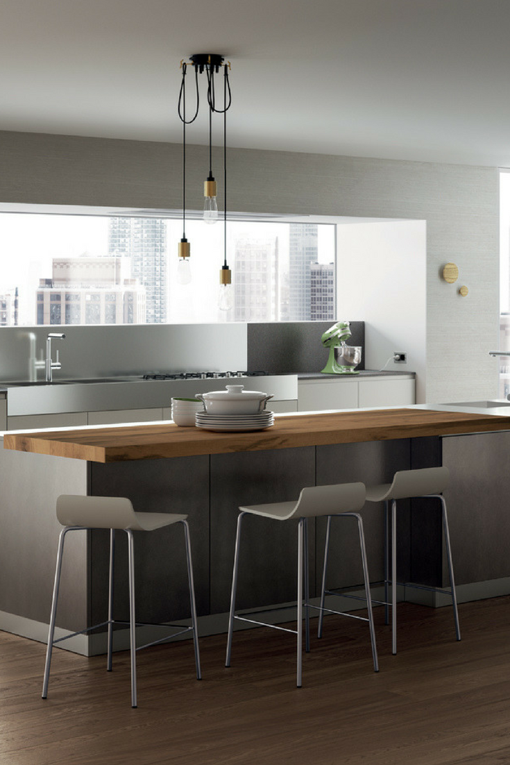 Kuche Graue Kuche Die 6 Schonsten Ideen Und Bilder Kuchenfinder In 2020 Grey Kitchen Modern Kitchen Island Modern Kitchen