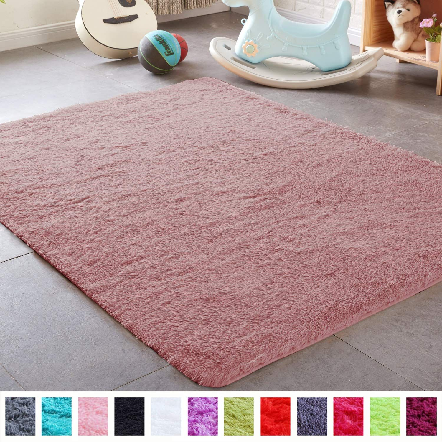 Pagisofe Shaggy Fluffy Area Rugs Carpets For Baby Nursery Teens Girls Rooms 4x5 3 Feet Plush Fuzzy Shag Rugs For K In 2020 Kids Bedroom Carpet Rugs On Carpet Rug Decor