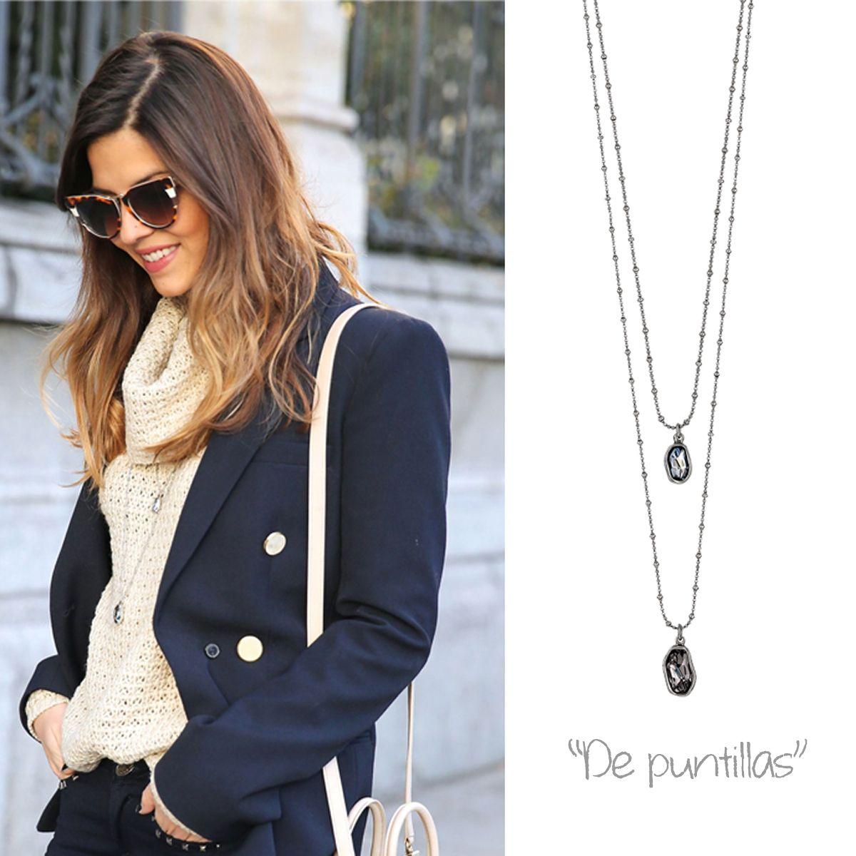 """Trendy Taste con nuestro collar """"De puntillas"""" Collar/necklace """"De puntillas"""": http://goo.gl/0giCXF"""