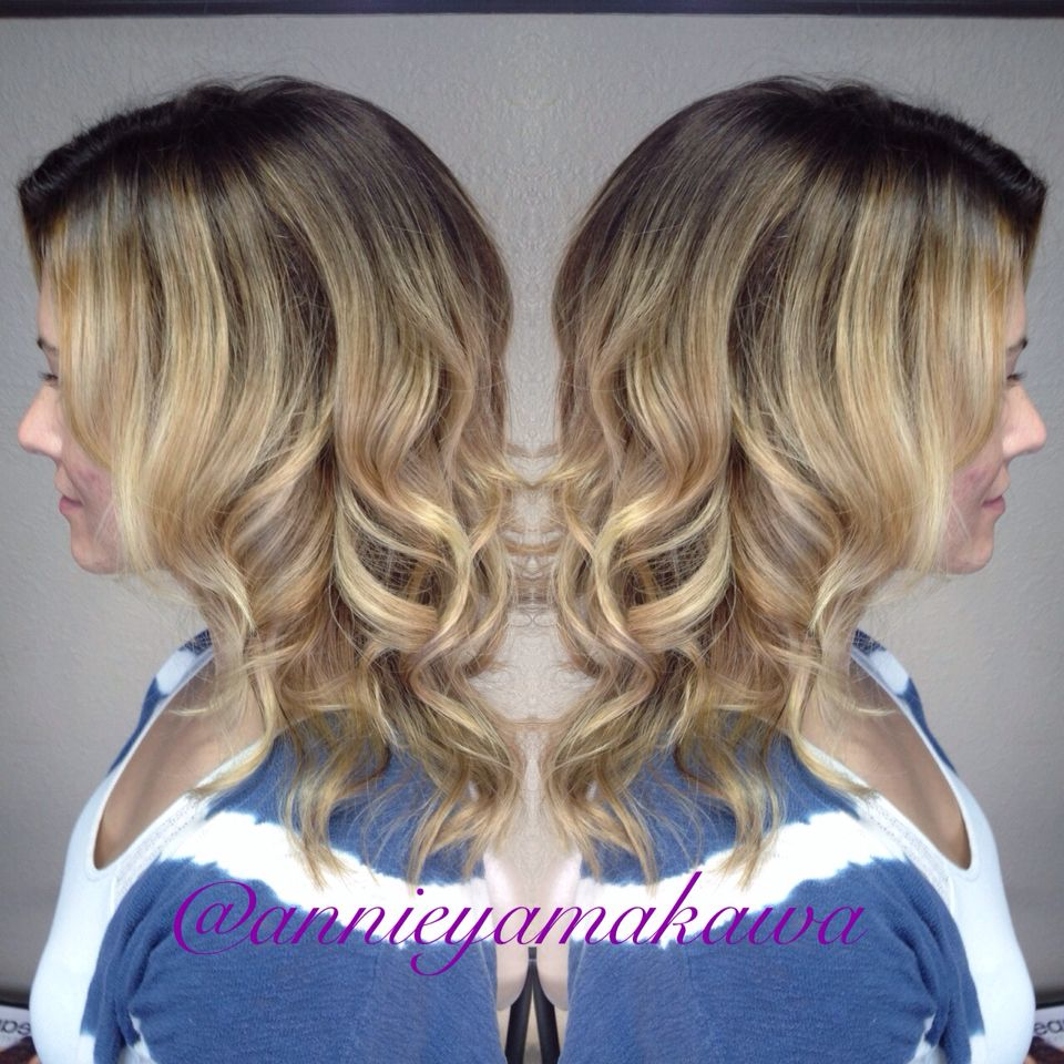 Pretty natural balayage on brown hair. Golden blonde tones. Perfect for spring 2015 #spring2015 #balayage #sombre #blonde #brunette #golden #goldenblonde #natural Instagram: @annieyamakawa