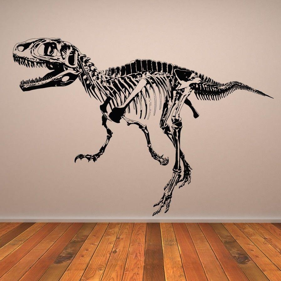 Dinosaur Wall Art t rex skeleton dinosaurs wall art sticker wall decal | k's room