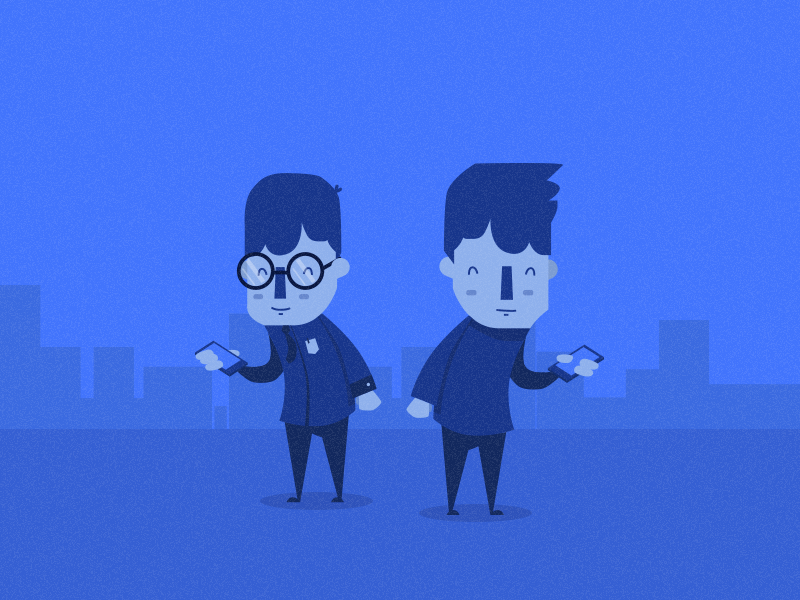 Character proposal for a startup video.