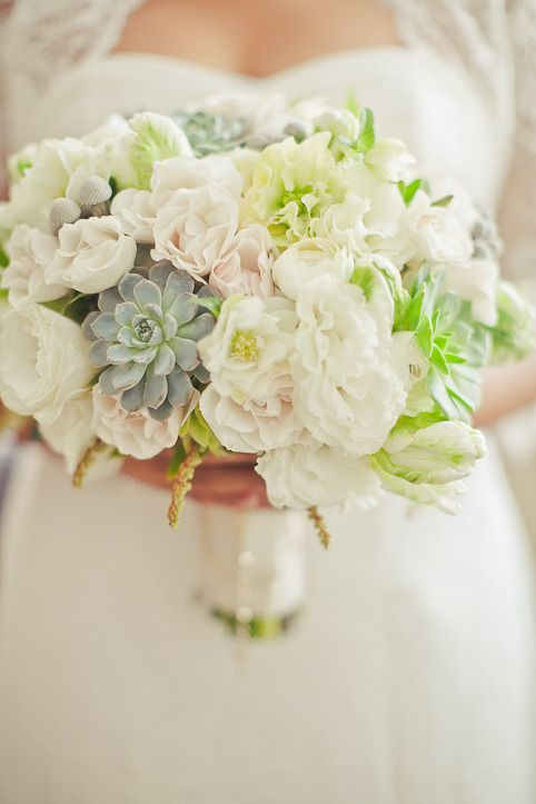 Wedding bouquet with just a touch of whimsy. Pretty! Photography by orangeturtlephotography.com