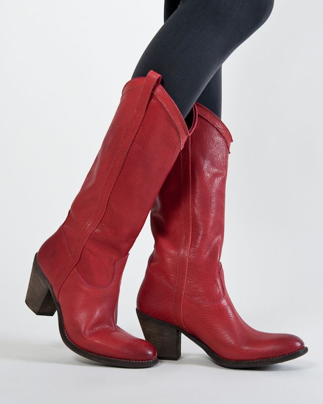 Zapatos rojos vintage FRYE para mujer