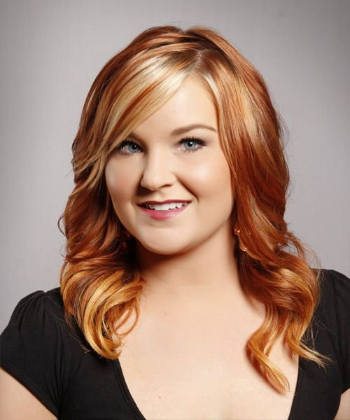 Lovely red highlights on beautiful golden locks is attractive and elegant. It gives an instant radiance to the face.
