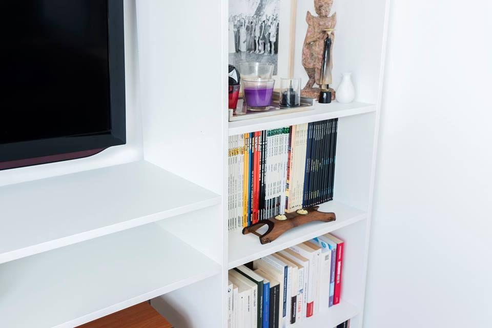 wow ce meuble tv bibliotheque est tout simplement magnifique bravo a marie eve olivier pour cette creation sur mesure