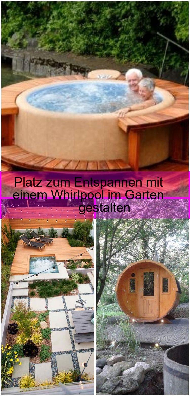 Platz Zum Entspannen Mit Einem Whirlpool Im Garten Gestalten Einem Entspannen Garten Ge Garten Gestalten Whirlpool Garten