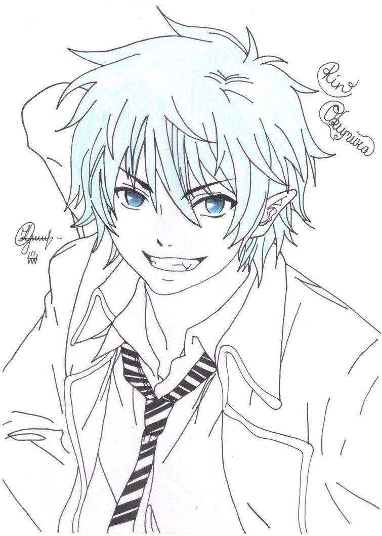 Rin Lineart By Deadstardragon D5ezfku Jpg Jpeg Kep 755 1059 Keppont Anime Anime Boy Blue Exorcist