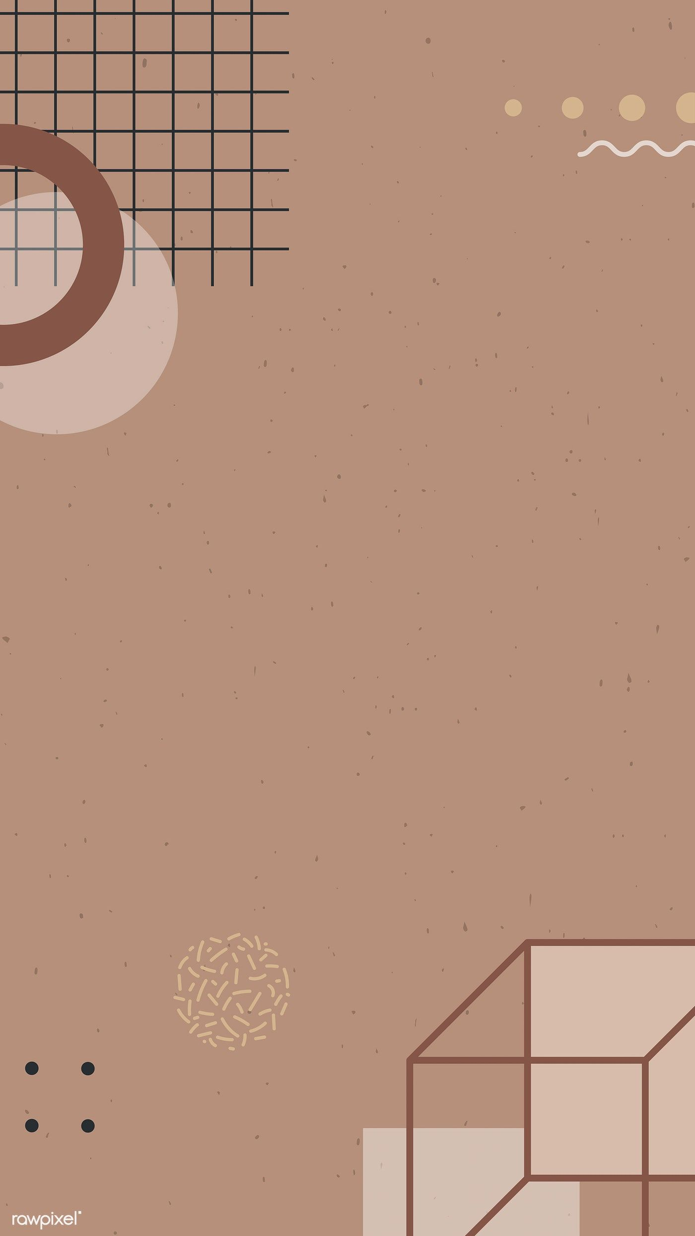 Download premium vector of Earth tone Memphis Facebook story background