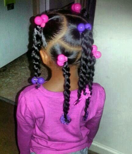 Twists In Ponytails Hair Styles Lil Girl Hairstyles Natural Hairstyles For Kids