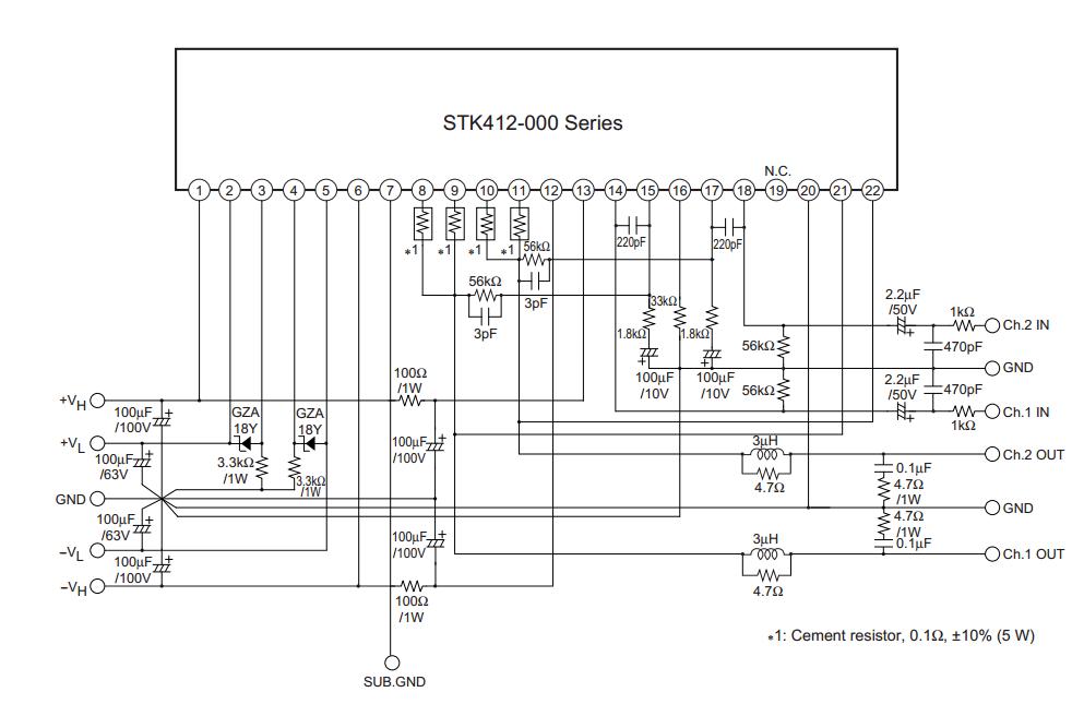 Pin De Nicanor Coquilla En Stk 412 Amplificador De Audio Componentes Electronicos Amplificador