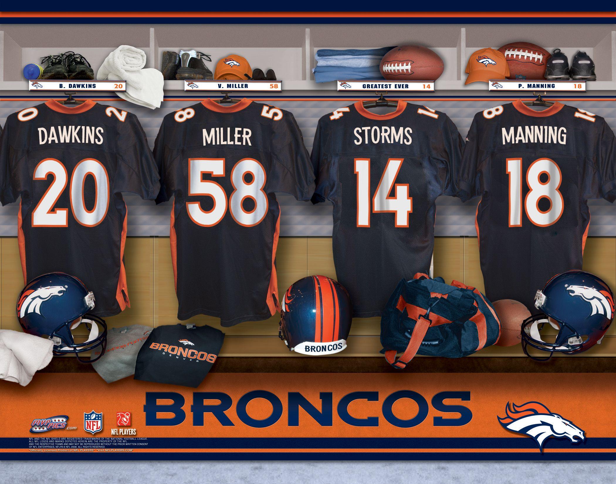 Denver Broncos Locker Room Print Broncos Denver Broncos Broncos Superbowl