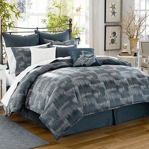 Tommy Bahama Indigo Ombre 9 PC King Comforter Bedskirt Shams Sheet SET   eBay